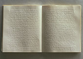 Open book with braille on pages