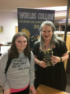 Me and Leigh Bardugo standing next to one another